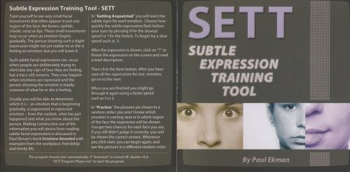 Subtle Expression Training Tool - SETT by Paul Ekman [2003 г., Психология]